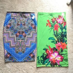 Bundle of TWO NWT Bisou Bisou Skirts. Size L